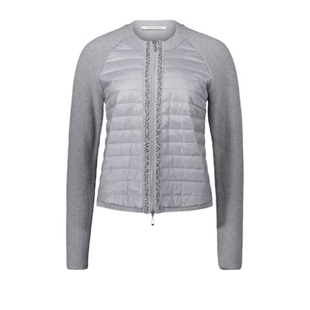 Betty Barclay Knitted Zip Jacket Silver  - Click to view a larger image