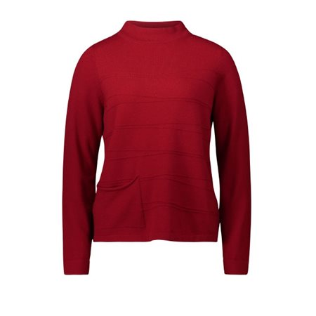Betty Barclay High Neck Pullover Red  - Click to view a larger image
