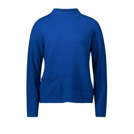 Betty Barclay High Neck Pullover Blue  - Click to view a larger image
