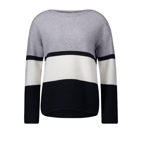 Betty Barclay Striped Jumper Grey  - Click to view a larger image