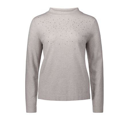 Betty Barclay Jewelled Jumper Beige  - Click to view a larger image