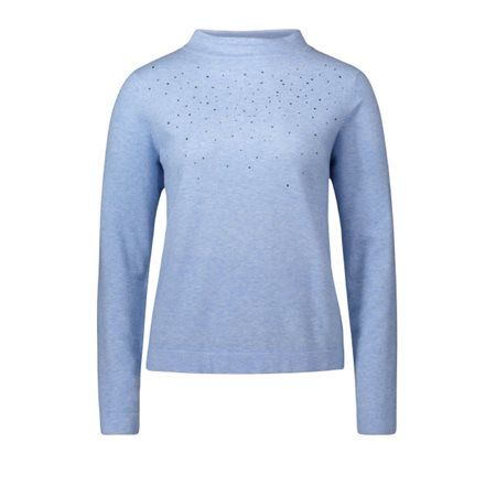 Betty Barclay Jewelled Jumper Blue  - Click to view a larger image