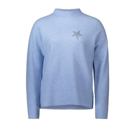 Betty Barclay Ribbed Star Print Jumper Blue  - Click to view a larger image