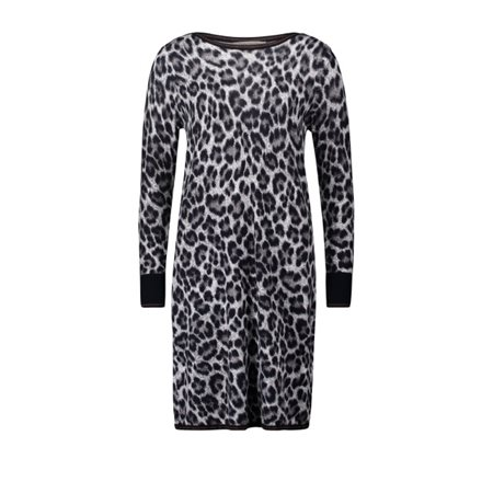 Betty Barclay Animal Print Dress Taupe  - Click to view a larger image