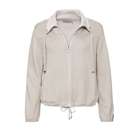 Monari Funnel Neck Jacket Oatmeal  - Click to view a larger image