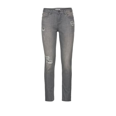 Monari Distressed Jeans With Sequins Grey  - Click to view a larger image