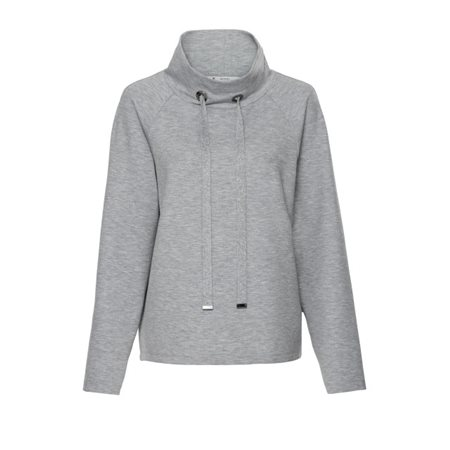 Monari Funnel Neck Pullover Grey  - Click to view a larger image
