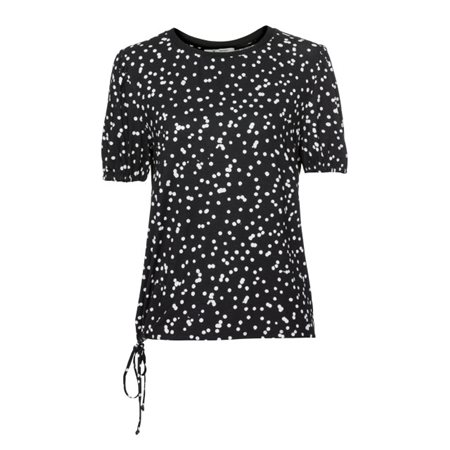 Monari Spotty Top Black  - Click to view a larger image