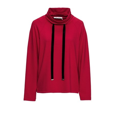 Monari Funnel Neck Pullover Red  - Click to view a larger image