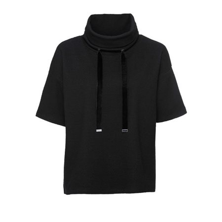 Monari Cowl Neck Pullover Black  - Click to view a larger image