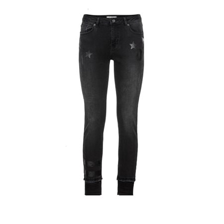 Monari Printed Sequin Jeans Black  - Click to view a larger image