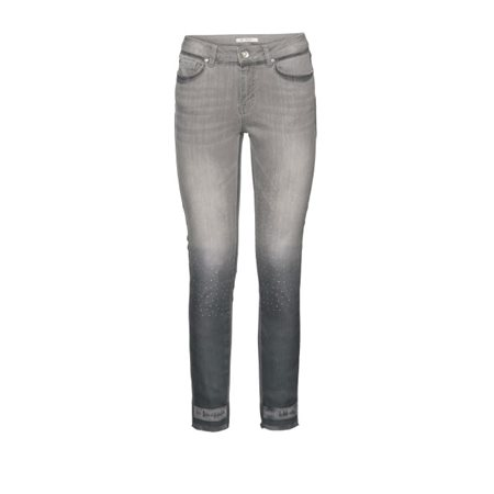 Monari Studded High Waist Jeans Grey  - Click to view a larger image