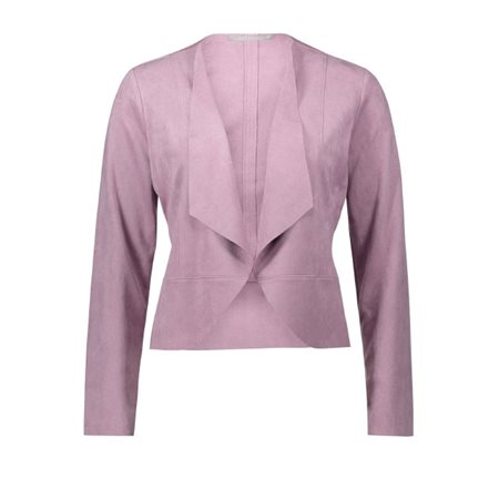 Betty & Co Faux Suede Jacket Purple  - Click to view a larger image