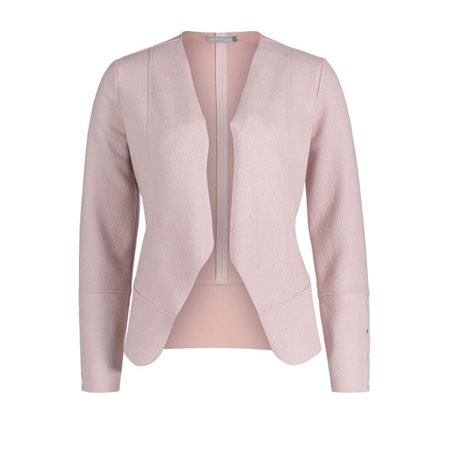 Betty & Co Faux Suede Jacket Pink  - Click to view a larger image