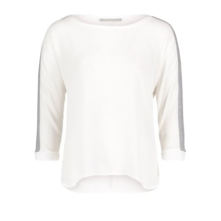 Betty & Co Cr+?Pe And Jersey Casual Top White  - Click to view a larger image