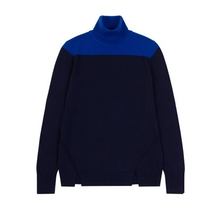 Emreco Fine Knit Pullover Electric And Navy  - Click to view a larger image