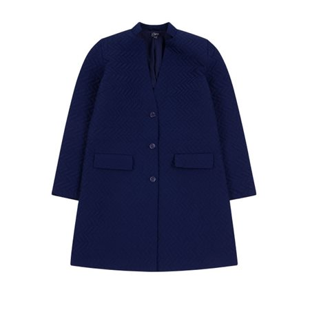 Emreco Quilted Coat Navy  - Click to view a larger image