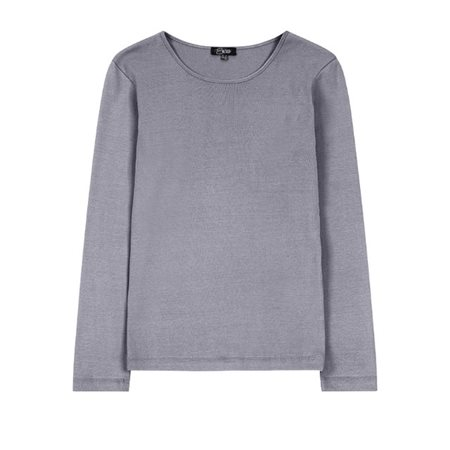 Emreco Long Sleeve Jersey Top Grey  - Click to view a larger image