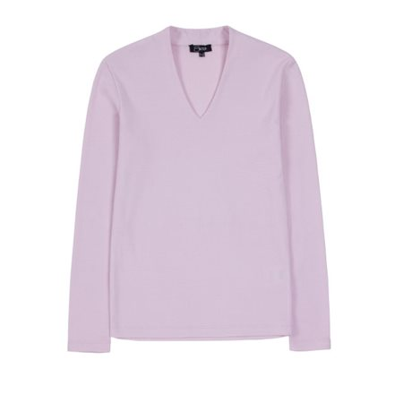 Emreco High V-Neck Top Pink  - Click to view a larger image