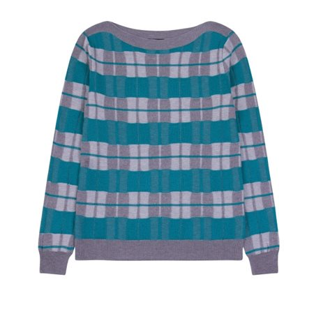 Emreco Checked Knitted Pullover Grey  - Click to view a larger image
