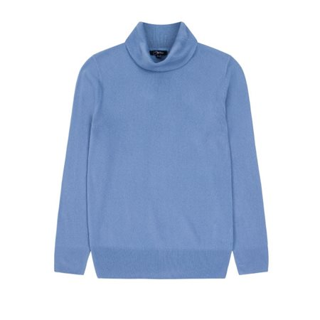 Emreco Soft Roll Neck Pullover Blue  - Click to view a larger image