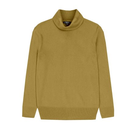 Emreco Soft Roll Neck Pullover Olive  - Click to view a larger image