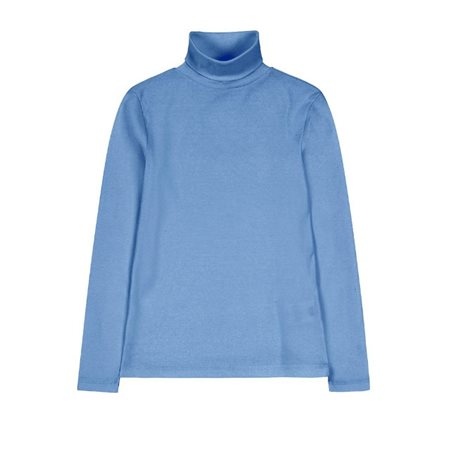 Emreco Essential Polo Neck Top Blue  - Click to view a larger image