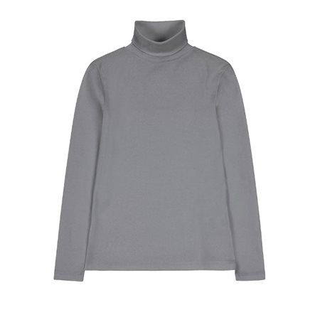 Emreco Essential Polo Neck Top Grey  - Click to view a larger image