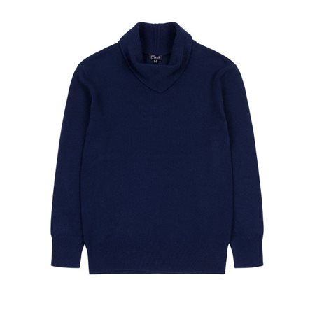 Emreco Knitted Pullover With Fold Navy  - Click to view a larger image