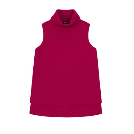 Emreco Sleeveless Roll Neck Crimson  - Click to view a larger image