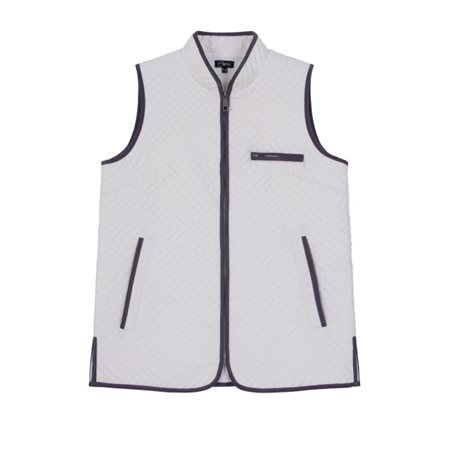 Emreco Lightly Quilted Gilet Cream  - Click to view a larger image