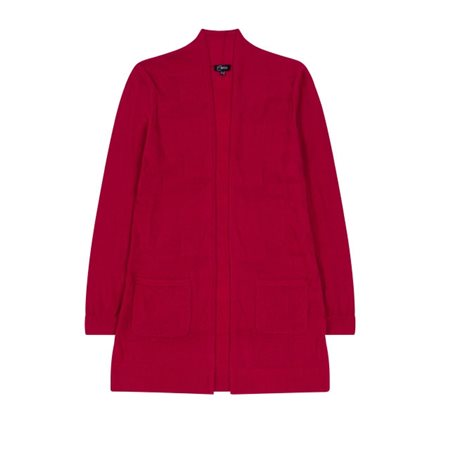 Emreco Mid Length Cardigan Crimson  - Click to view a larger image