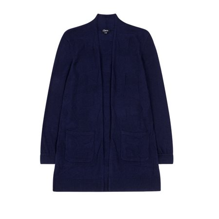 Emreco Mid Length Cardigan Navy  - Click to view a larger image