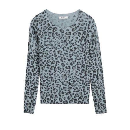 Sandwich Clothing Animal Print Pullover Blue  - Click to view a larger image