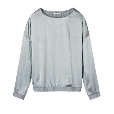 Sandwich Clothing Shiny Top With Elastic Hem Steel  - Click to view a larger image