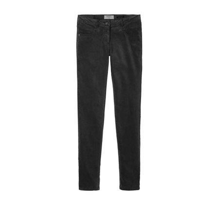 Sandwich Clothing Skinny Velour Trousers Black  - Click to view a larger image