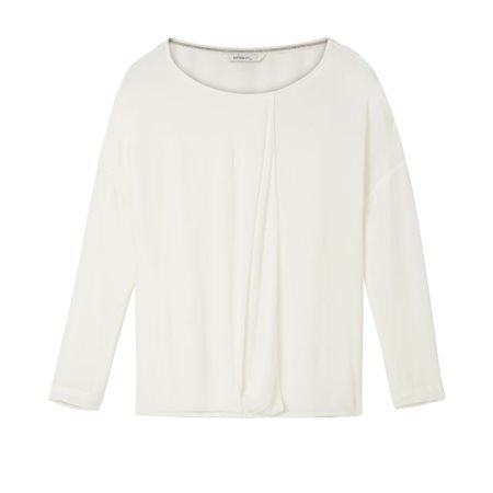 Sandwich Clothing Wrap Effect Top Cream  - Click to view a larger image