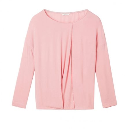 Sandwich Clothing Wrap Effect Top Blush  - Click to view a larger image