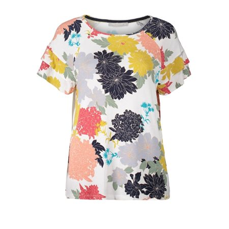 Betty & Co Floral Top White  - Click to view a larger image