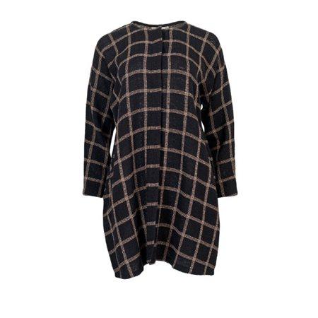 Masai Clothing Juvena Checkered Jacket Black  - Click to view a larger image