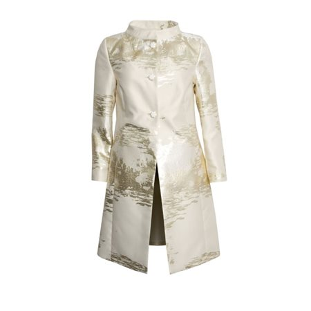 Fee G Gold Lurex Statement Coat  - Click to view a larger image