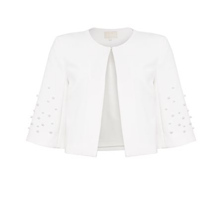 Fee G Pearl Box Jacket Cream  - Click to view a larger image