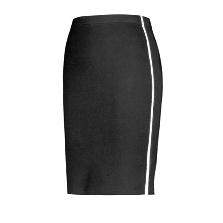 Gerry Weber Tuxedo Stripe Skirt Black  - Click to view a larger image