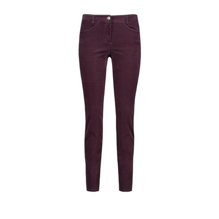 Gerry Weber Stretch For Comfort Trousers Wine  - Click to view a larger image