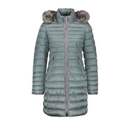 Gerry Weber Quilted Coat With Fur Trim Jade Teal  - Click to view a larger image