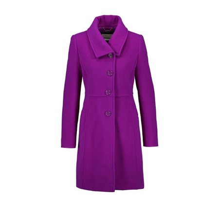 Gerry Weber Wool And Cashmere Coat Purple  - Click to view a larger image
