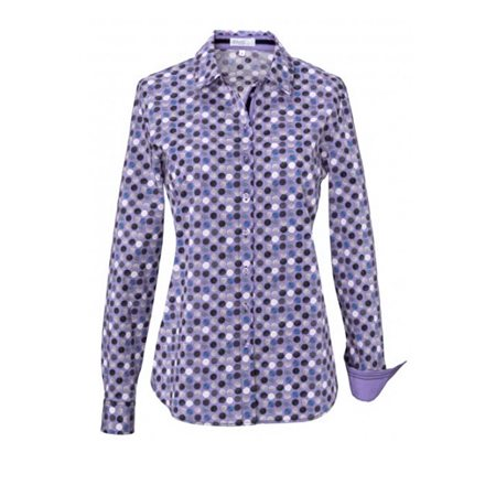 Erfo Circle Print Shirt Purple  - Click to view a larger image