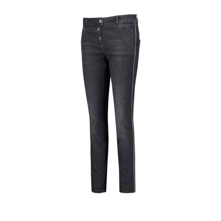 Taifun 7/8 Jeans With Side Stripe Dark Denim  - Click to view a larger image