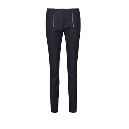 Taifun Stretch Trousers With Zip Detail Navy  - Click to view a larger image