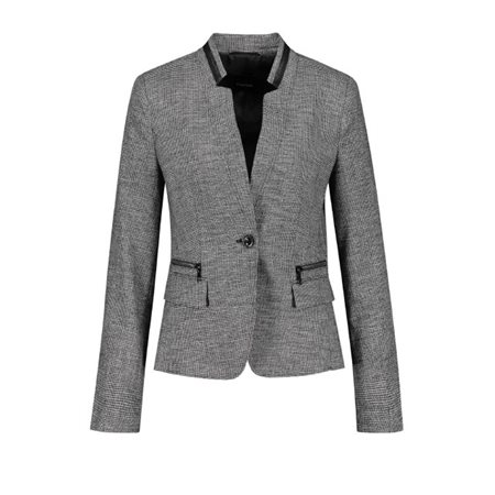 Taifun Textured Waist Cut Blazer Black  - Click to view a larger image